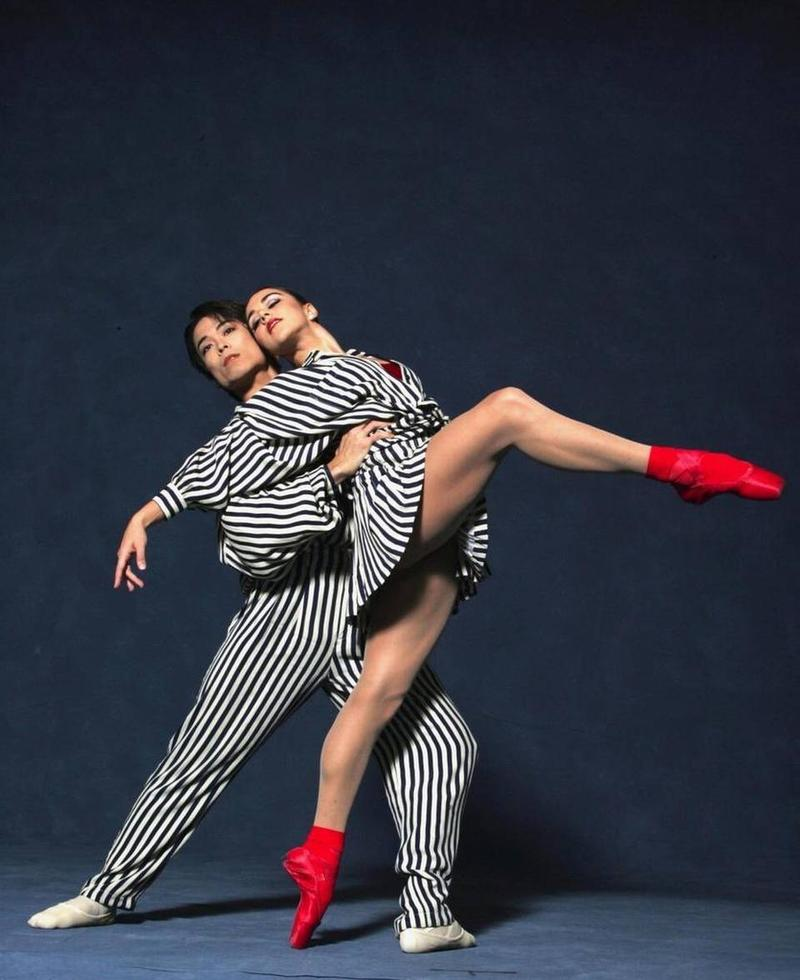 "Patricia Delgado and Kenta Shimizu in a publicity shot for ""In the Upper Room."" Choreography by Twyla Tharp."