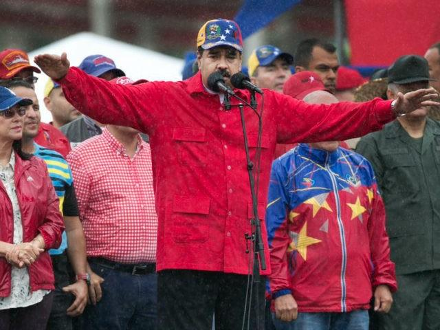 LOONY LEFTY: Venezuelan President Nicolas Maduro at an anti-imperialist rally this month.