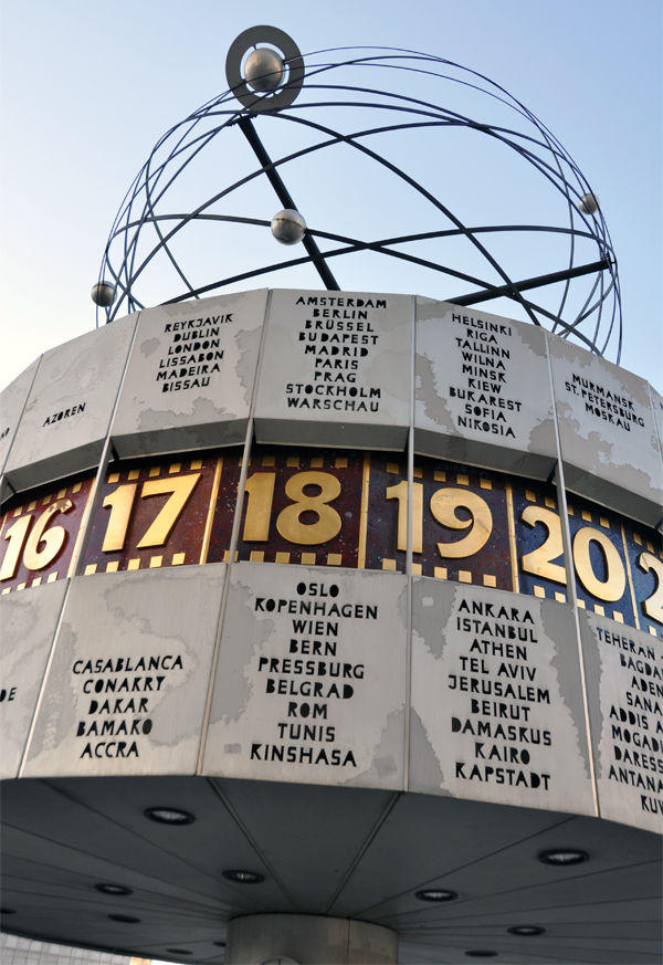 World Time Clock on Alexanderplatz, Berlin, Germany