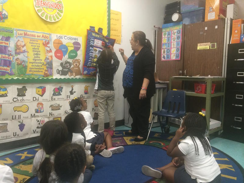 The pre-kindergarten 'Spanish Club' at Lorah Park Elementary School in Brownsville.