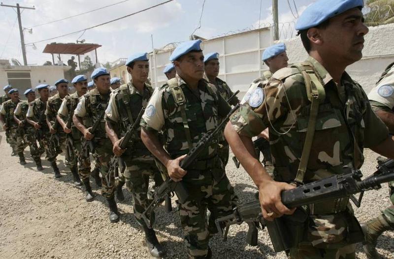U.N. peacekeeping forces in Haiti in 2006.