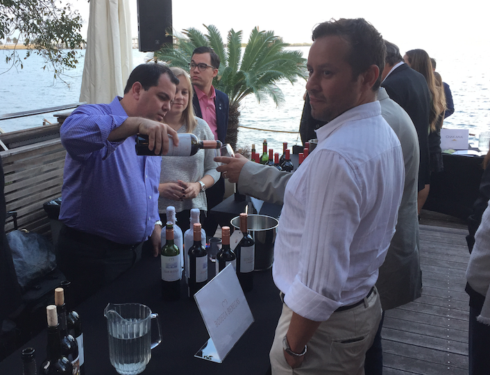Miami Malbec fans drink up on World Malbec Day last month at a party in Edgewater.