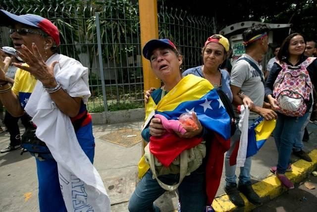 Venezuelan women in Caracas last year protesting the country's severe food and medicine shortages.