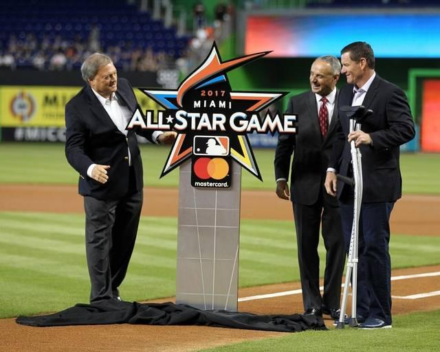 The official logo of the 2017 All-Star game which will take place July 11, 2017, at Marlins Park.