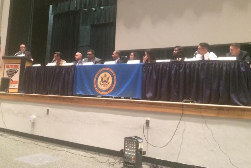 The U.A. Attorney's Office convened a panel discussion on heroin and opioid use at Booker T Washington High School in Overtown Thursday.