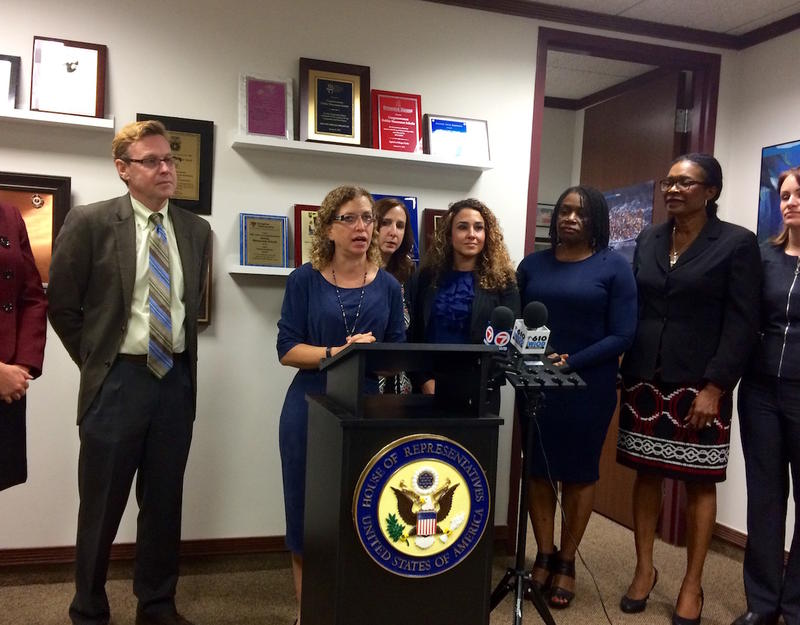 Congresswoman Wasserman Schultz addressed the media following her round table with Miami immigrant activists.