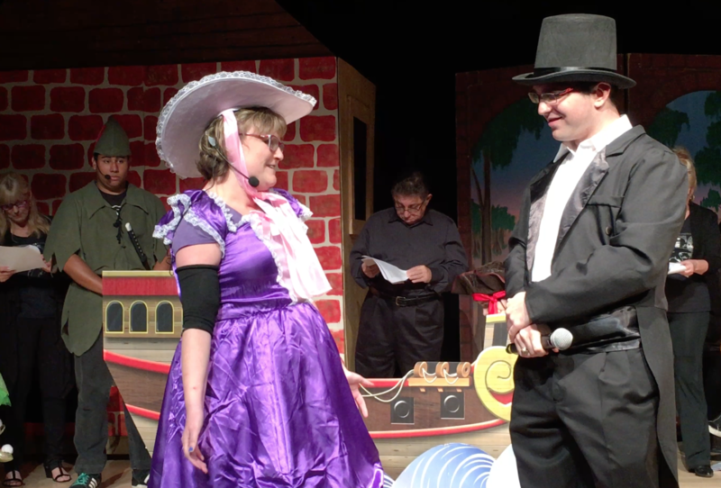 Christine Ayers as Mrs. Darling and Alan (A.J.) Paoli as Mr. Darling