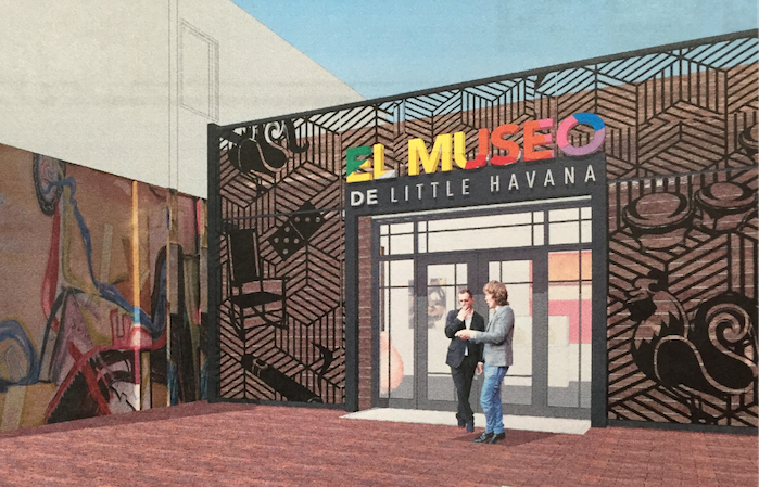 An artist's rendering of the planned Museo de Little Havana on Calle Ocho.