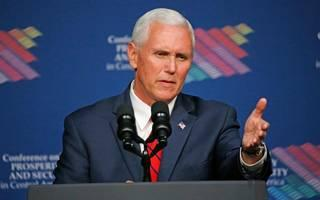 Vice President Mike Pence addresses the Conference on Prosperity and Security in Central America at Florida International University on Thursday.