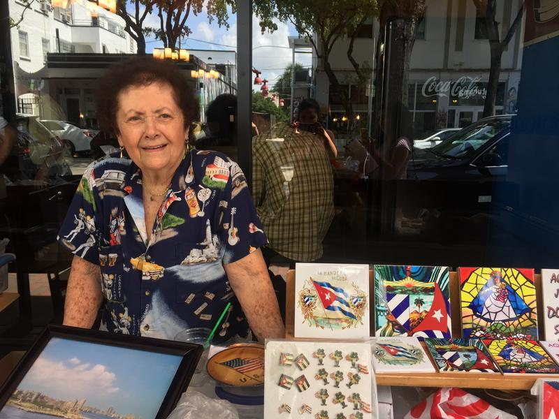Nancy Acostadorta is one the Cuban residents  of Little Havana who lent a hand for the fundraiser.