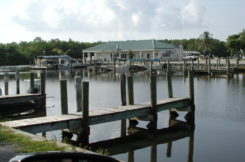 The marina at Flamingo in Everglades National Park. The area is highly valued for sportfishing and birding.