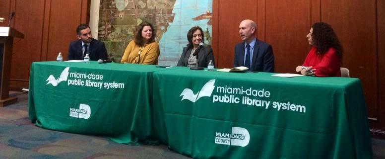 A panel on journalism launched the News Literacy Project in the Miami-Dade Public Library System.