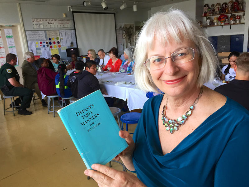 South Grade Elementary art teacher Rebecca Hinson has been teaching formal etiquette to her fifth grade classes for more than a dozen years.
