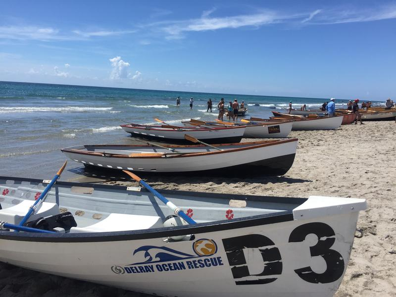 Some lifeguards (especially in areas like New Jersey) still use row-boats for rescue, but the rowing event is mostly a nod to the lifegsaving's past in the US.