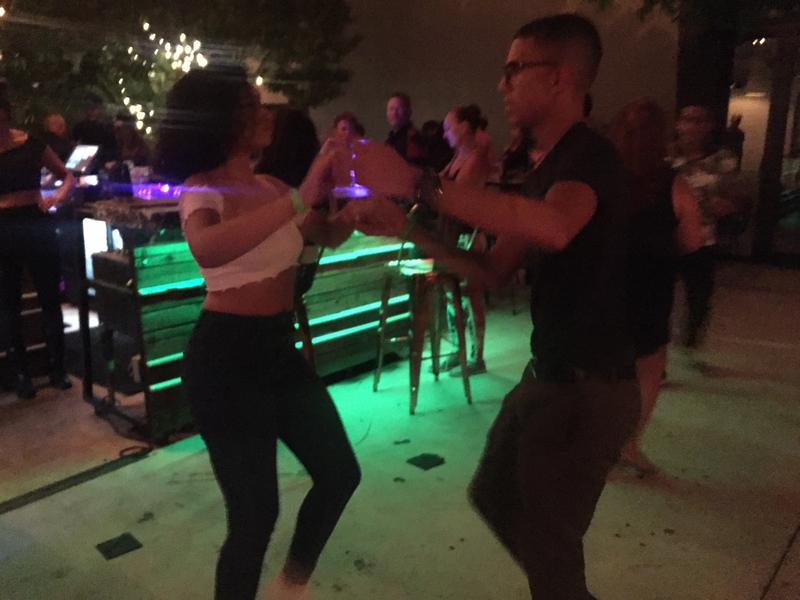 Partners take to the dance floor at the Salsa Congress kick-off party.