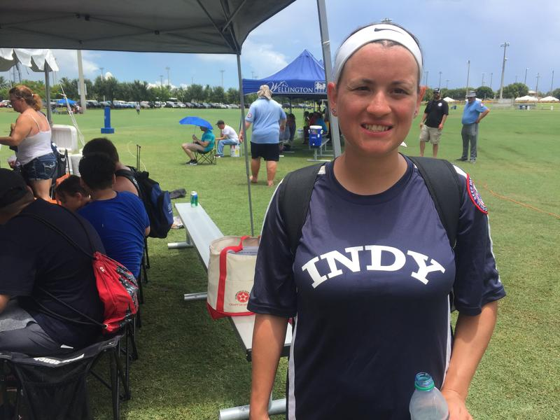 Rebecca Lewis and her husband both play for the Indy Thunder.