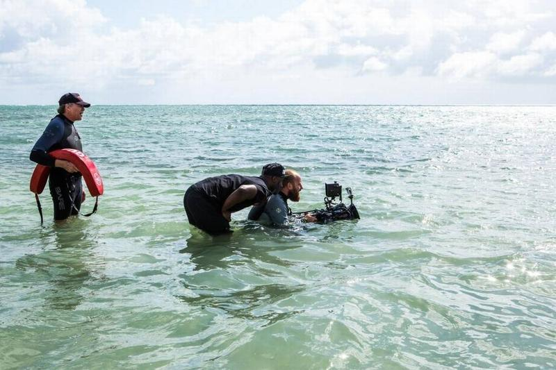 A scene from the Oscar-winning 'Moonlight' being filmed in Miami Beach. It was filmed there despite the fact that it did not receive incentives, a hard decision said Director Barry Jenkins.