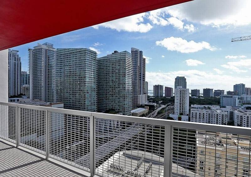 A view from a one-bedroom unit in Brickell View Terrace on Wednesday, February 1, 2017, Miami's first mixed-income housing development.