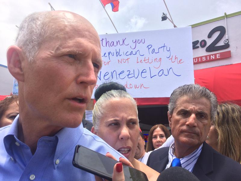 Governor Scott announces his proposal to halt business with organizations that trade with the Maduro regime