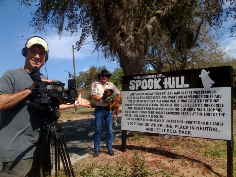 DP Felipe Marrou getting the money shot at Spook Hill in Lake Wales, FL