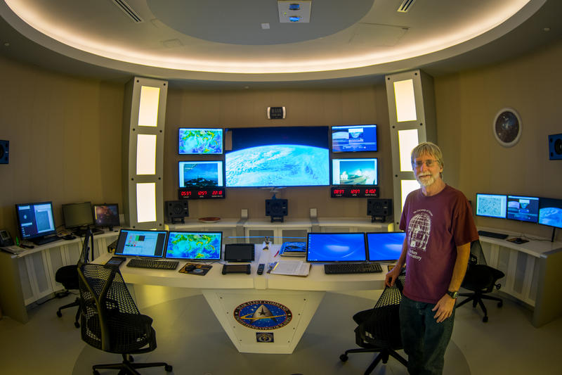 Dr. James Webb designed the telescope control room at FIU's Stocker AstroScience Center to look like the control room of a starship -- à la Star Trek.