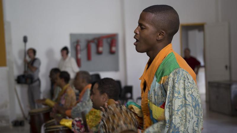 Folklorico Nacional de Cuba percussionist