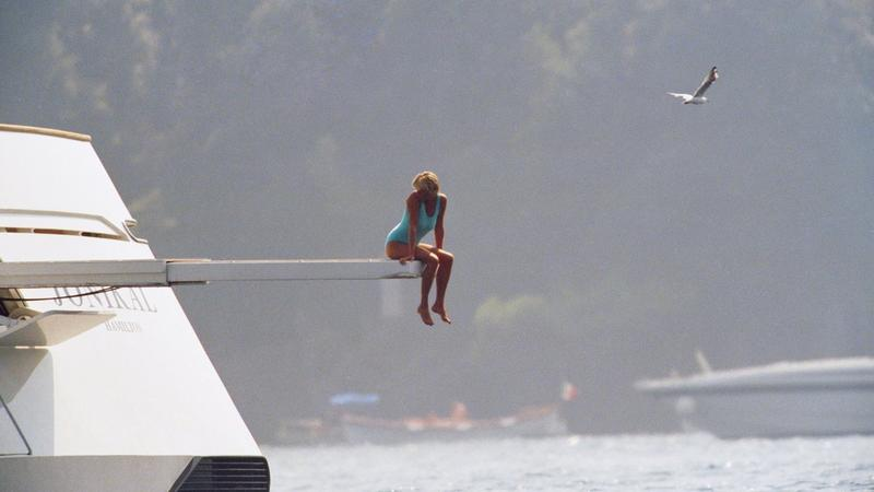 Diana on diving board