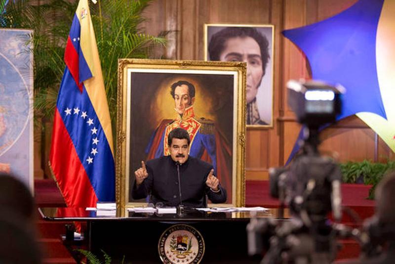 Venezuelan President Nicolas Maduro inside the Miraflores palace in Caracas this month.
