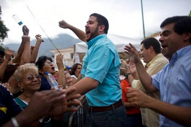 David Smolansky, opposition mayor of the El Hatillo district of Caracas, who was ordered arrested this month by Venezuela's socialist regime for allowing anti-government protests. He is currently in hiding.