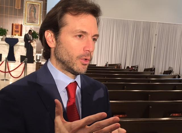 Ramón Muchacho, the opposition mayor of the Caracas district of Chacao, was among the Venezuelan leaders present at Our Lady of Guadalupe to hear the vice president's speech.