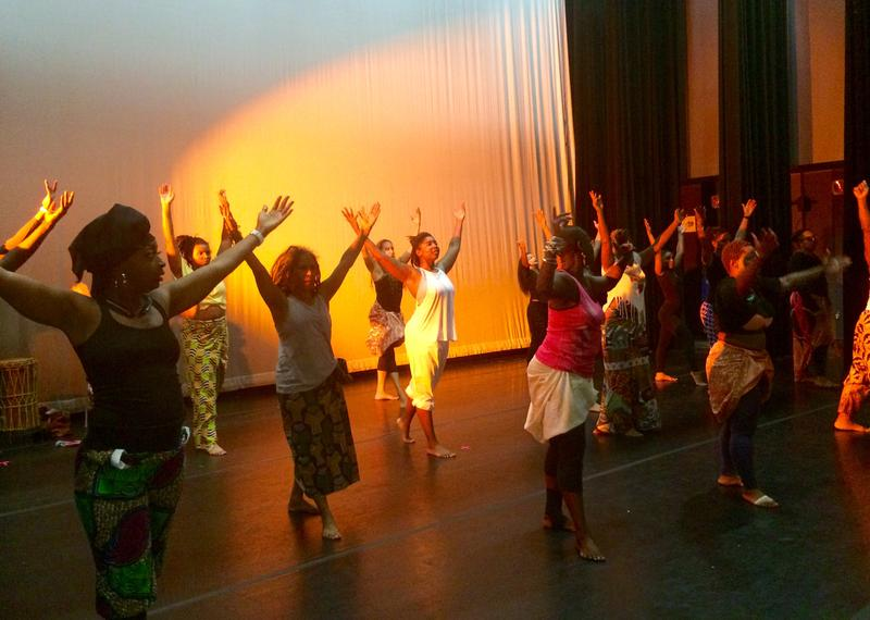 Dancers rehearse for Saturday night's performance.