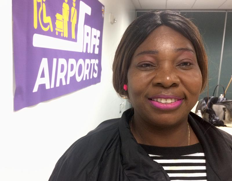 Sandra Smith works for two different contractors at FLL.