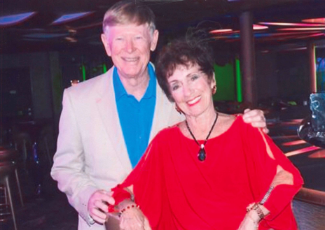 Nancy Bowers and her husband.