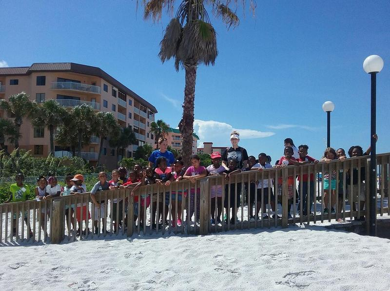 As part of their curriculum, Summer Bridge kindergarten students were able to head outside of the classroom to the Seabird Seaside Sanctuary in Indian Shores.