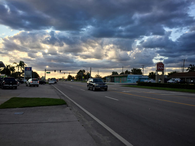 State Highway 80 runs through Clewiston, Fla.
