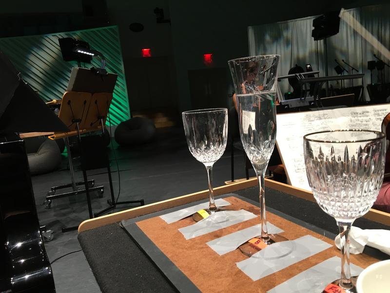 Crystal goblets are some of the instruments in Sunday's performance.