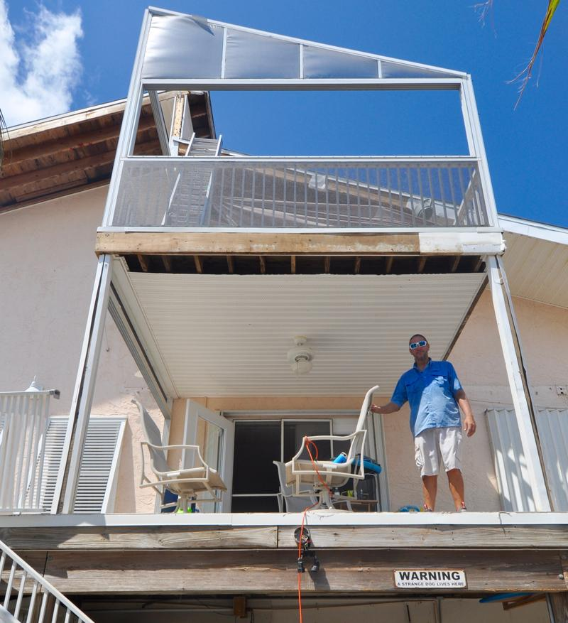 Phil Waynick's home on Little Torch Key suffered some damage. The storm surge was at least three feet, ruining much of what he had stored on the ground floor beneath the living space.