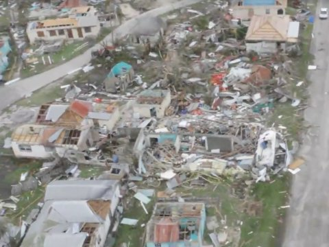 Buildings destroyed by Hurricane Irma on the Caribbean island of Barbuda this month.