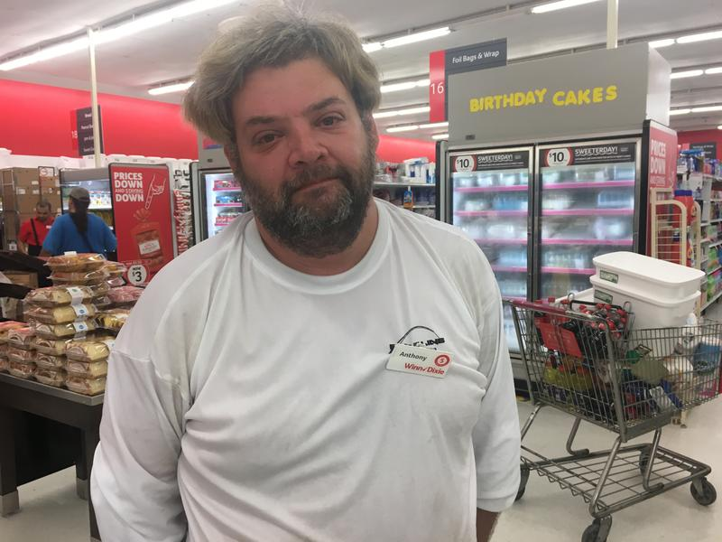 When Anthony Attilio's trailer blew apart during Hurricane Irma, he took refuge in the Winn Dixie at Big Pine.