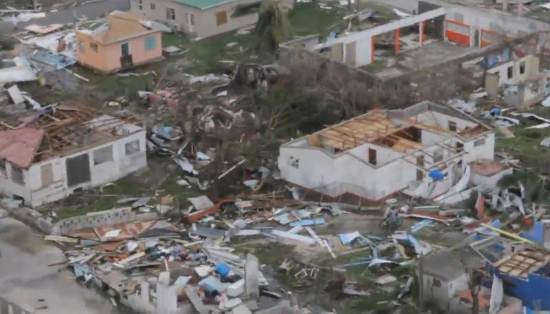 Buildings destroyed by Hurricane Irma on the Caribbean island of Barbuda last week.