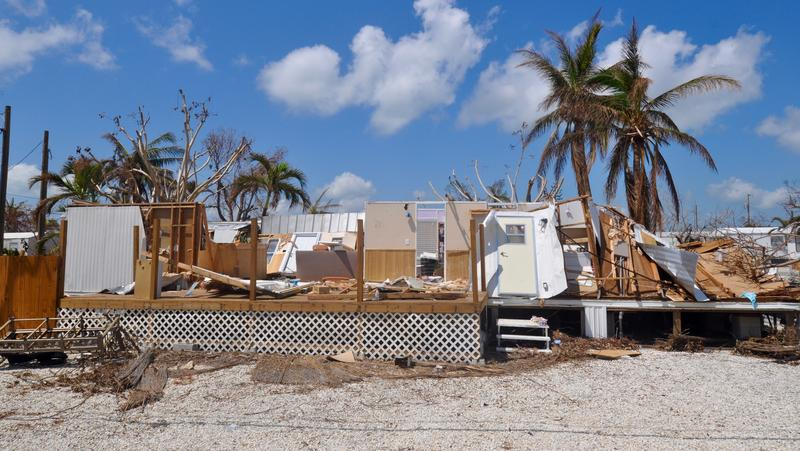 The Coral Shores Estates mobile home neighborhood on Little Torch Key suffered extensive damage because of Hurricane Irma.