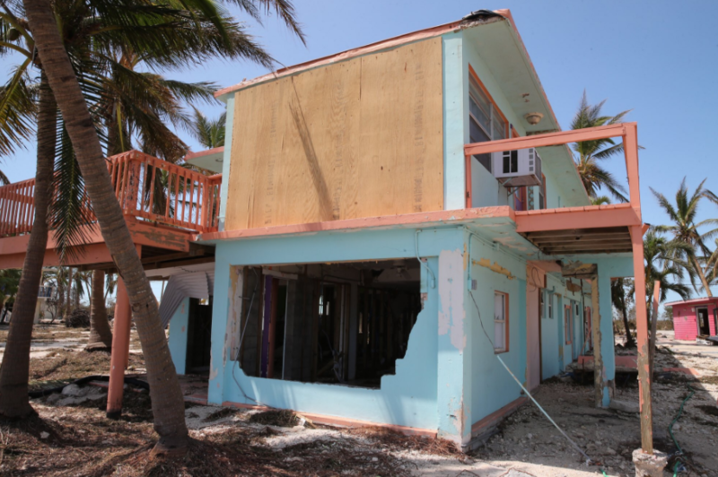 Hurricane Irma's storm surge gutted first level of the Seashell Resort in Grassy Key