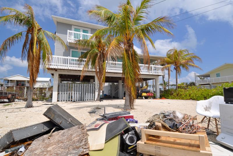 This house at 1185 Hakluyt Lane sits on the southern edge of Cudjoe Key, where Hurricane Irma made landfall. The house's owner says it appeared to survive without major damage. It was built in 1989.