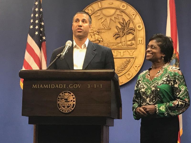 FCC Chairman Ajit Pai and Commissioner Mignon Clyburn