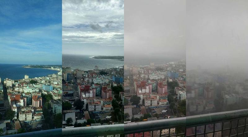 The arrival of Hurricane Irma seen from a balcony in Havana. Photos taken during the last 24 hours.
