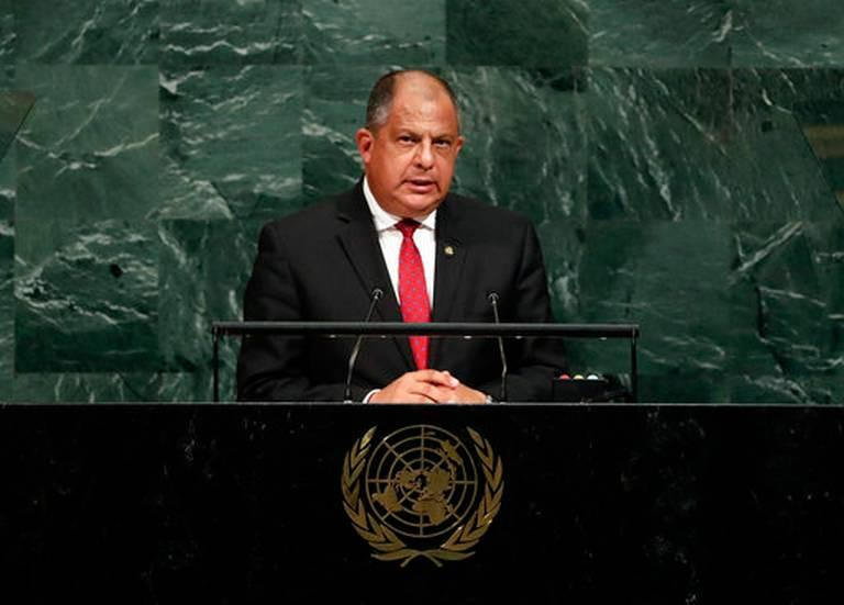 Costa Rican President Luis Guillermo Solis addressing the United Nations this week.