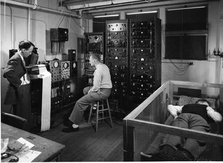 Working around the clock in the radiation lab, circa 1943