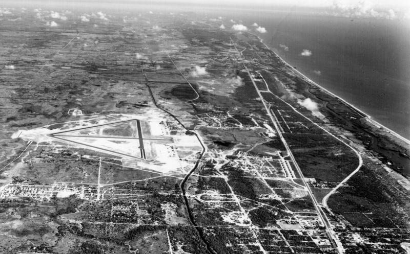 Aerial view Boca Raton Army Air Field, 1942-1947