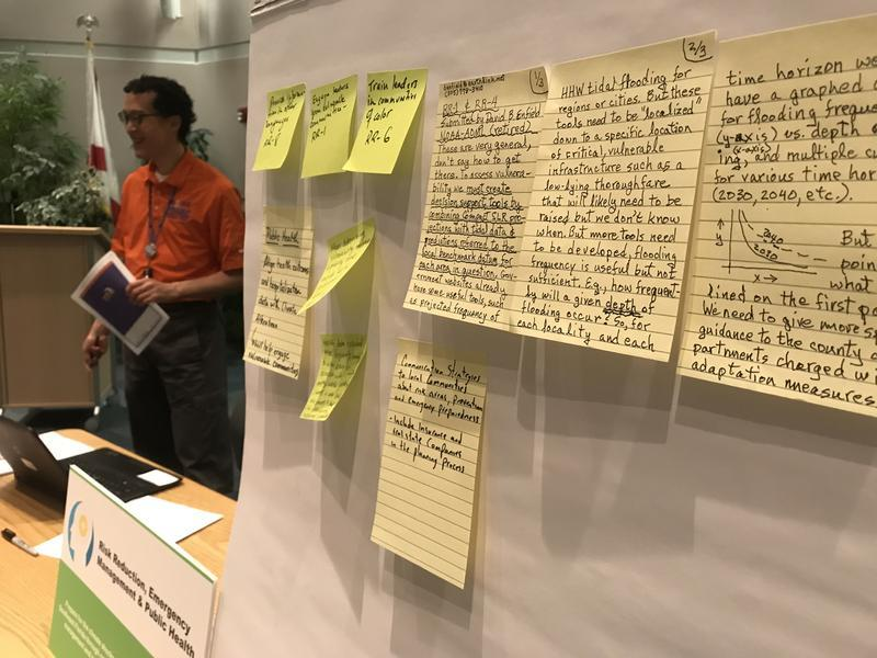 People offered ideas for addressing climate change, income inequality, king tide flooding and other regional issues at a public comment session in Coconut Creek in April.