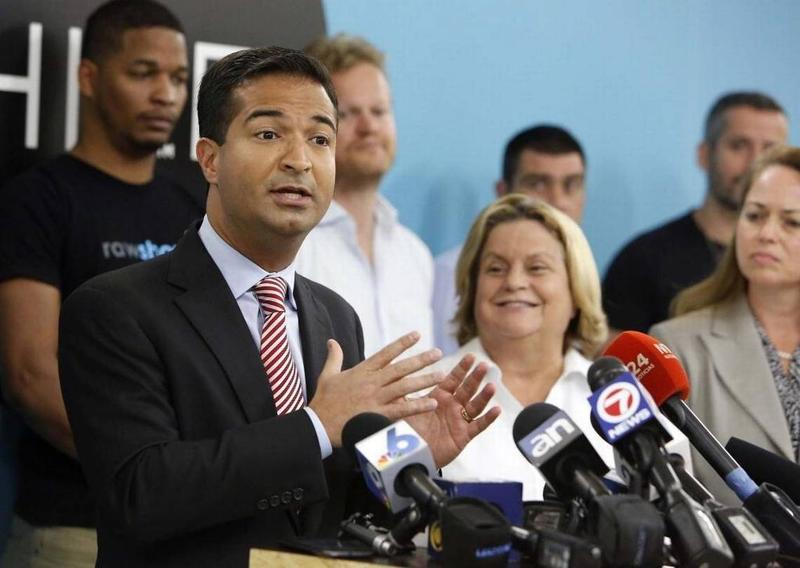 "South Florida Republican U.S. Rep. Carlos Curbelo says Congress needs to revisit the issue of ""sensible gun policy in this country."""